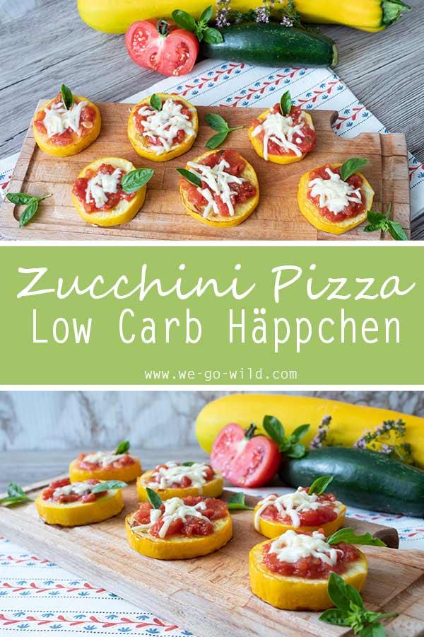 Rezept für Low Carb Zucchini Pizza Happen
