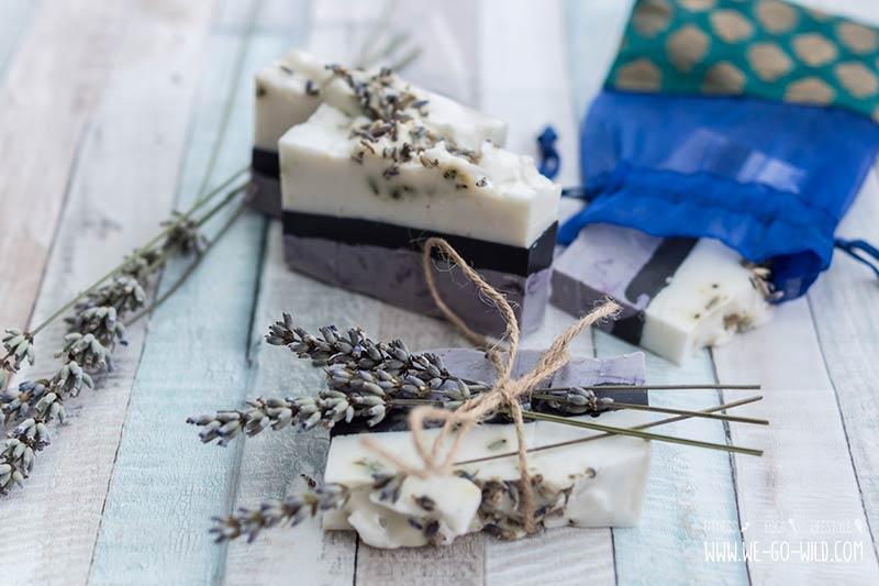 Seife selber herstellen mit Lavendel