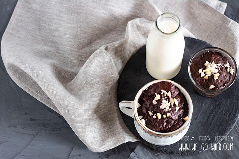 Tassenkuchen Vegan Mug Cake Mit Flussigem Schokokern