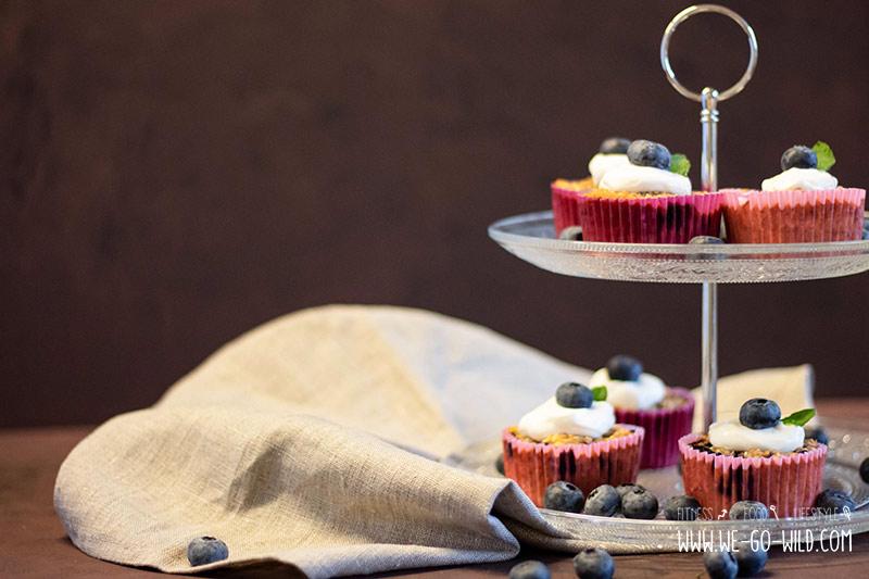 Haferflocken Muffins Ohne Zucker Mit Heidelbeeren Und Zimt