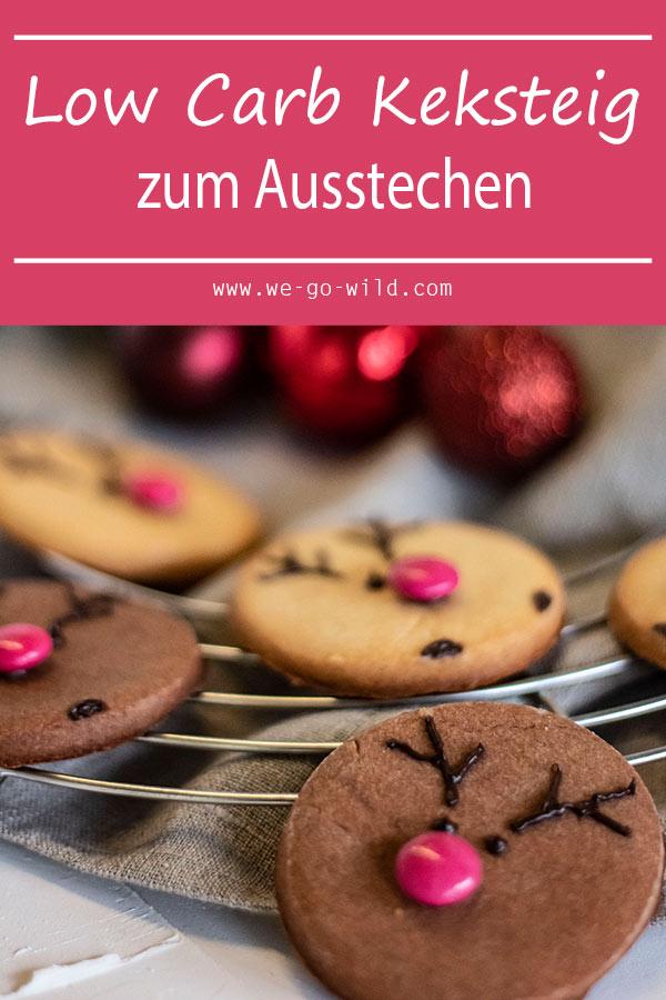 Weihnachtsplätzchen Teig Zum Ausstechen.Low Carb Plätzchen Zum Ausstechen Rentier Kekse Mit Mandelmehl
