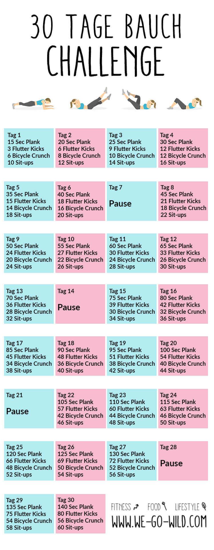 30 Tage Bauch Challenge Pdf