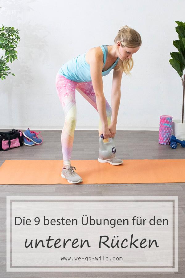 Die besten Übungen für den unteren Rücken für zuhause - WE..