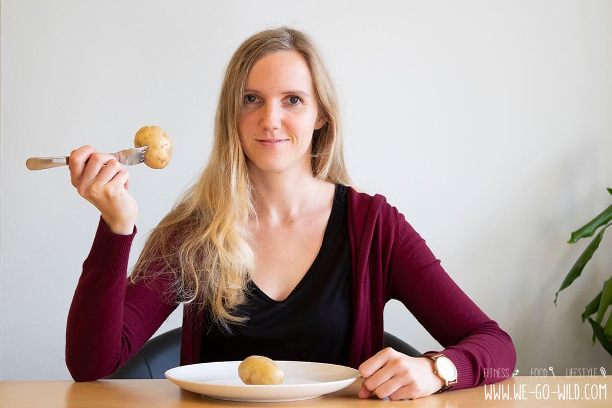 Die rohe Kartoffel wird verwendet, um Gewicht zu verlieren