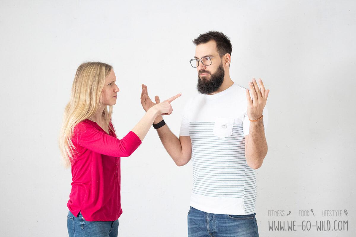unzufrieden sein streiten