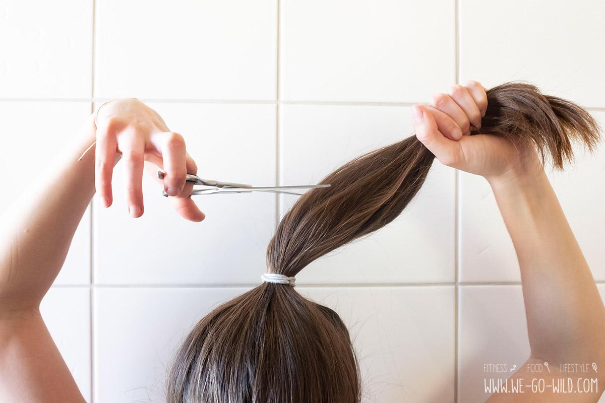 Selber Haare schneiden - Anleitung für Pony & Spitzen - WE GO WILD