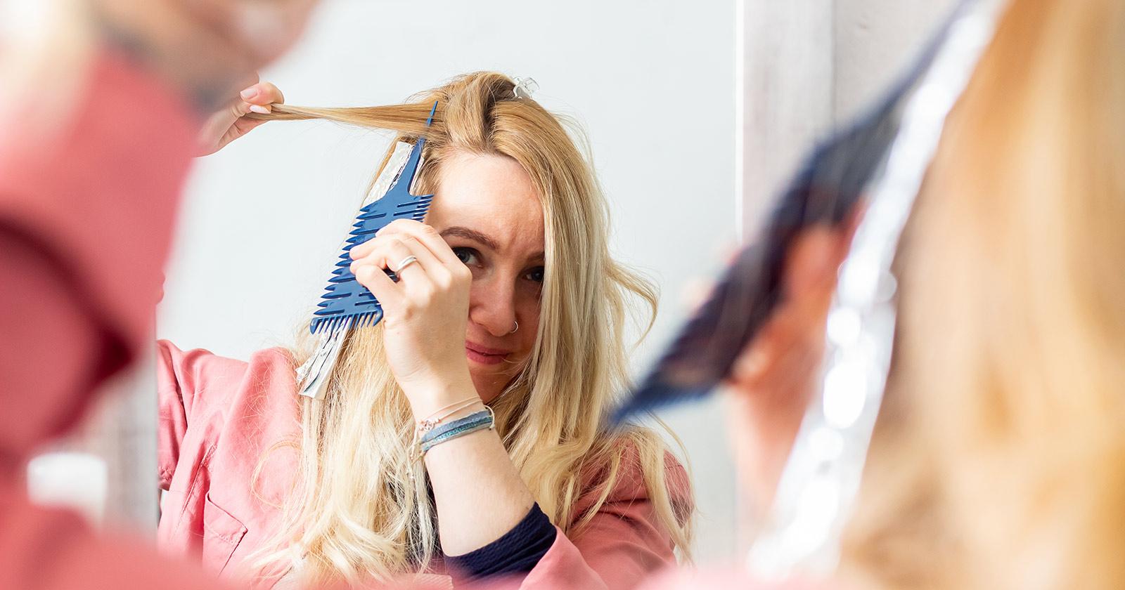 Blonde strähnen frauen selber machen
